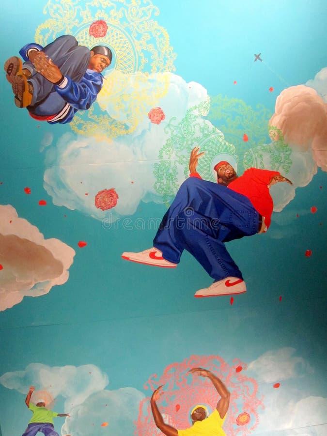 Pintura de s de Kehinde Wiley 'no museu de Brooklyn imagens de stock