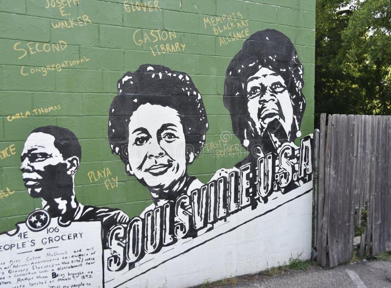 Pintura de Soulsville los E.E.U.U., Mempis, TN fotos de archivo