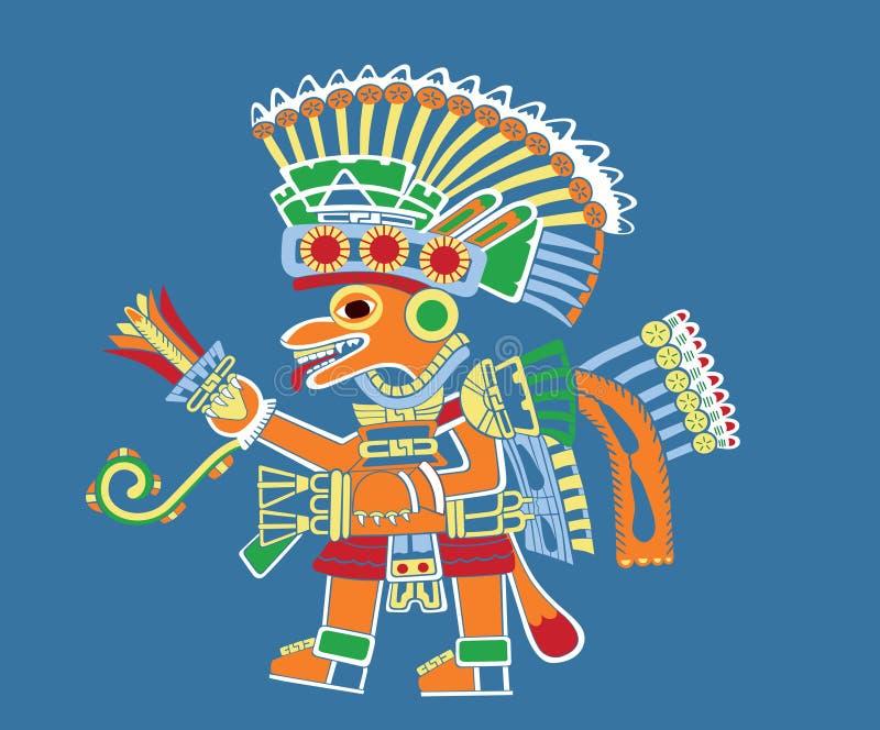 Pintura de Teotihuacan stock de ilustración