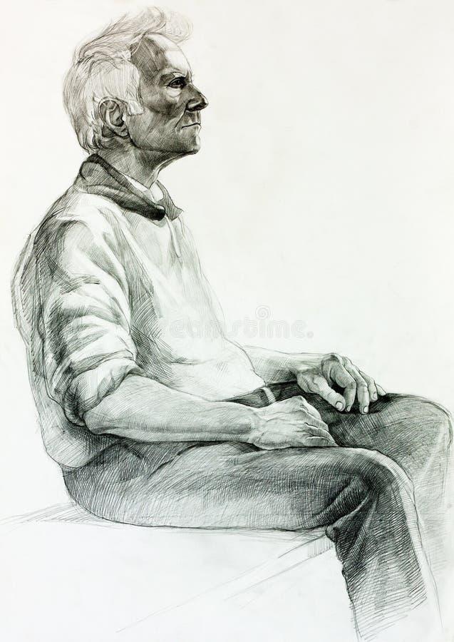 Pintura de um homem ilustração stock