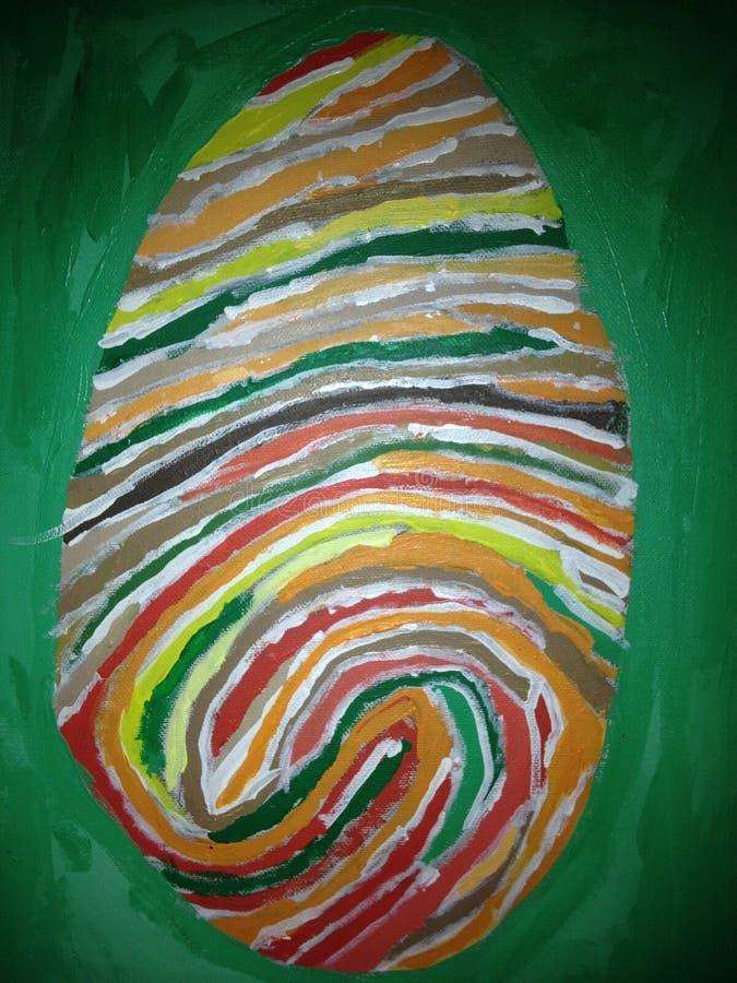 Pintura de una huella dactilar imagen de archivo libre de regalías