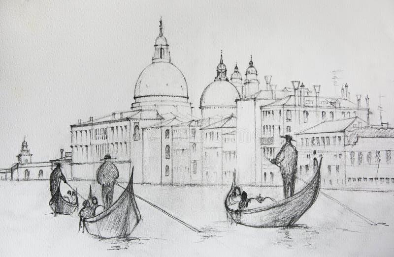 Pintura de Venecia Italia stock de ilustración
