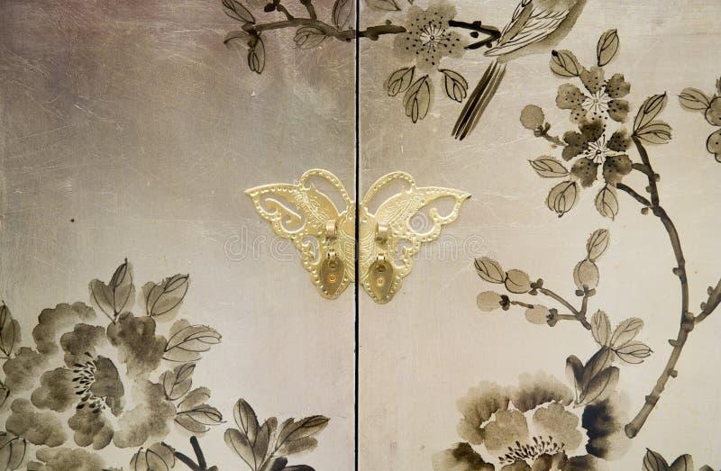 pintura decorativa na mobília foto de stock