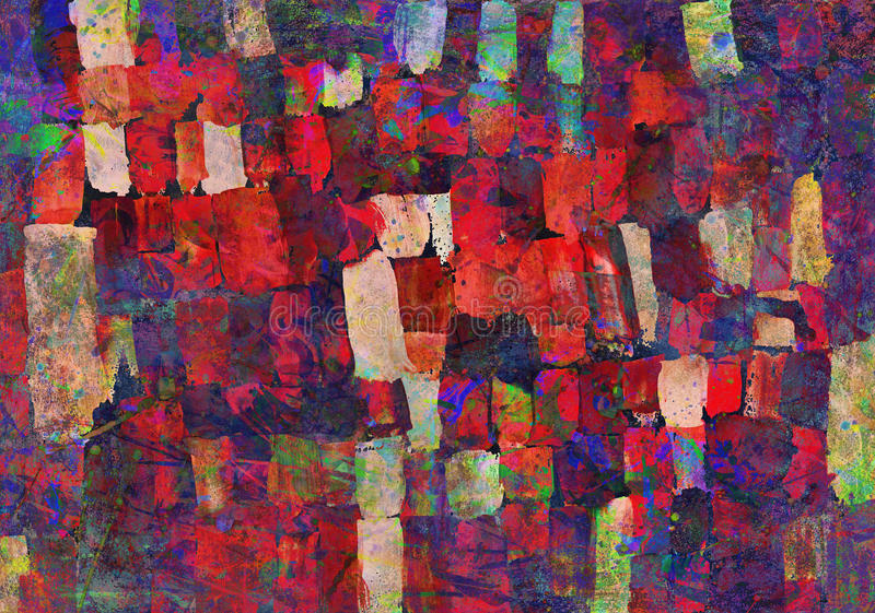 Pintura del arte abstracto stock de ilustración