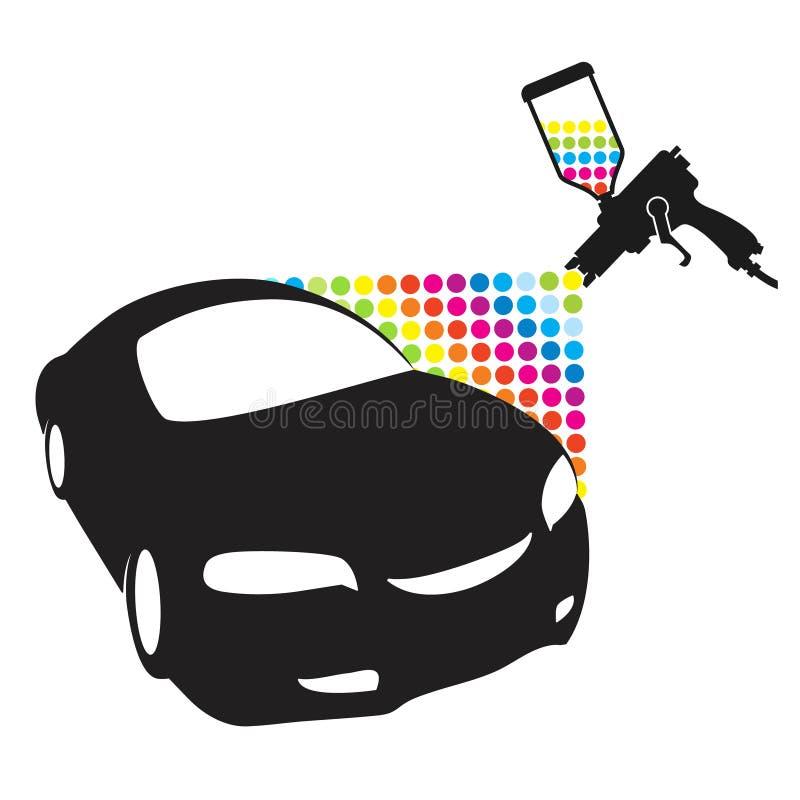 Pintura del coche stock de ilustración