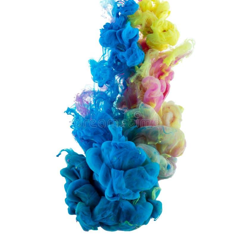 Pintura del color de Absract en agua fotografía de archivo
