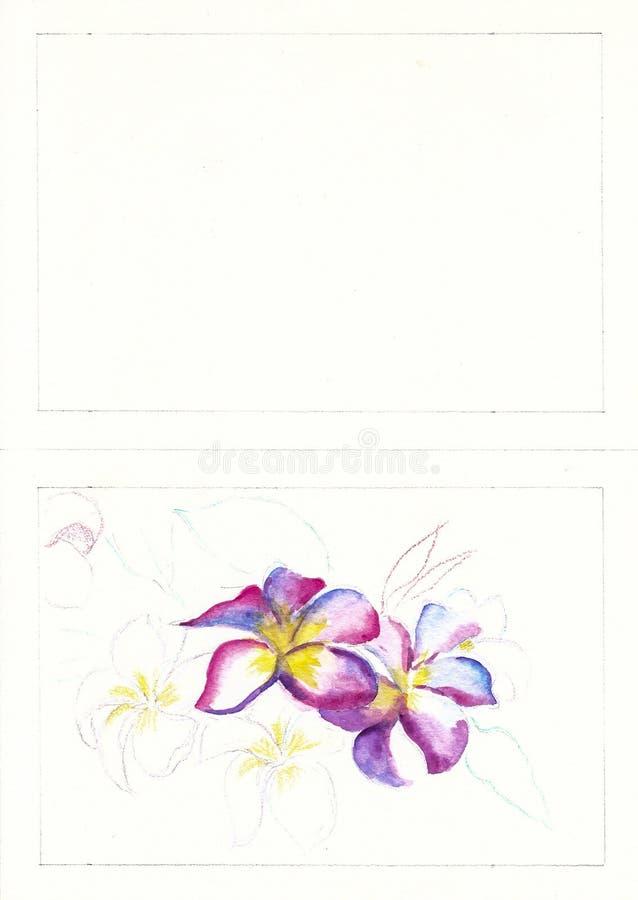 Pintura del color de agua fotos de archivo libres de regalías