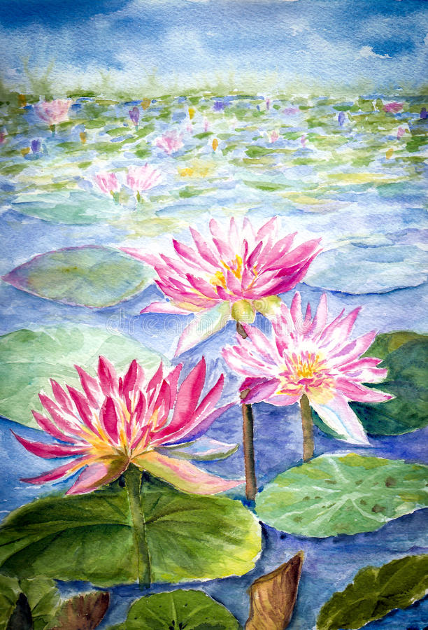 Pintura del color de agua imágenes de archivo libres de regalías