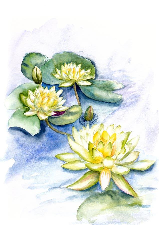 Pintura del color de agua stock de ilustración