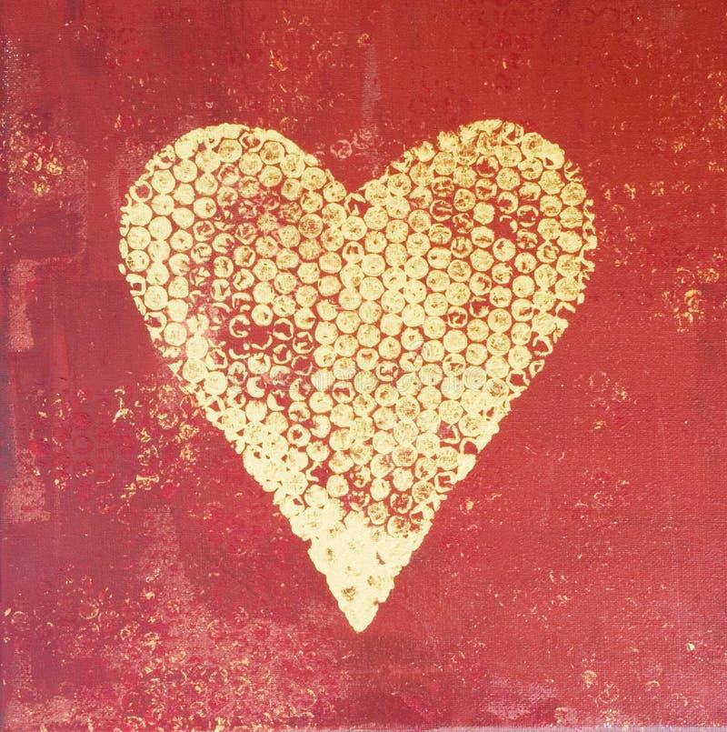 Pintura del corazón stock de ilustración