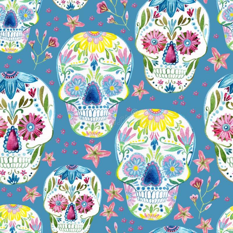 Pintura del cráneo del azúcar libre illustration