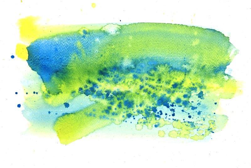 Pintura del extracto del color de agua stock de ilustración