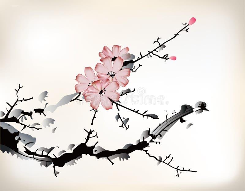 Pintura del flor ilustración del vector