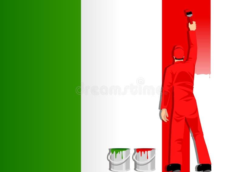 Pintura del indicador de Italia stock de ilustración