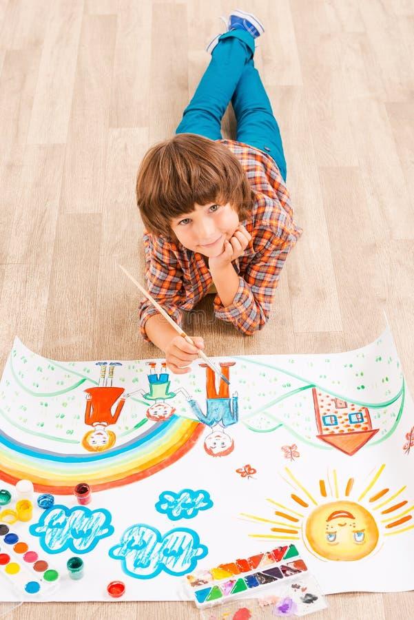 Download Pintura del muchacho stock de ilustración. Ilustración de muchachos - 44851990