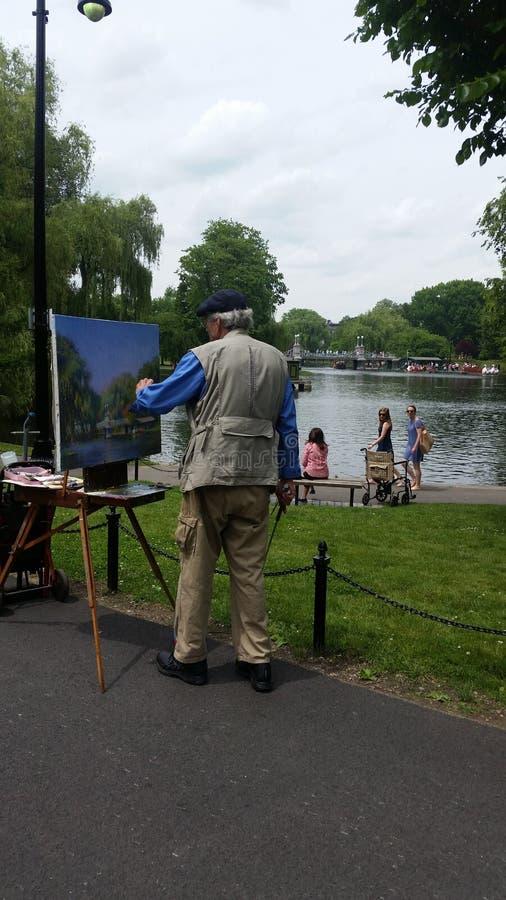 Pintura del paisaje imágenes de archivo libres de regalías