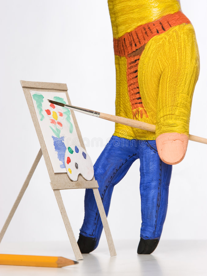 Pintura del pintor de la mano fotos de archivo libres de regalías
