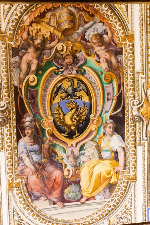 Pintura del renacimiento en el museo del Vaticano imagen de archivo libre de regalías