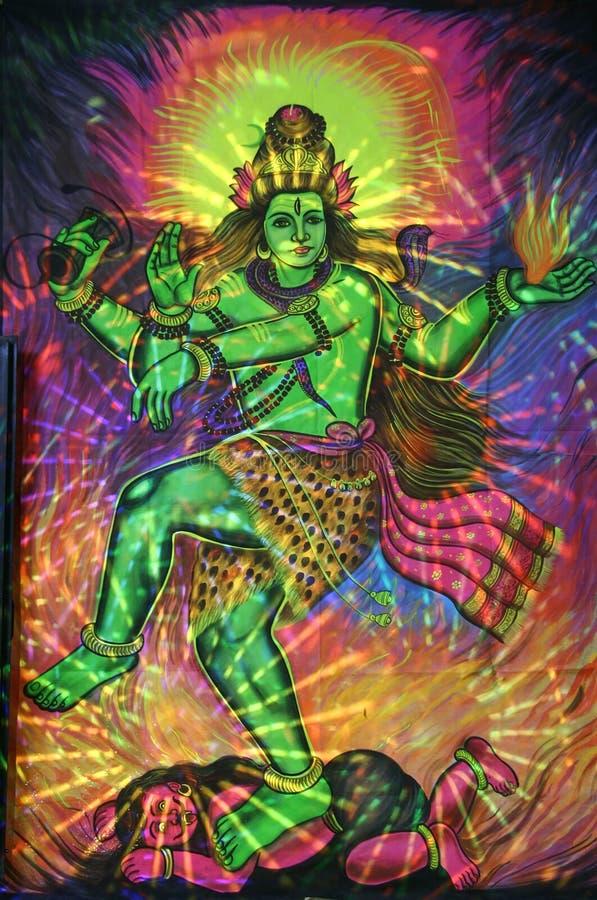 Pintura del shiva del baile stock de ilustración