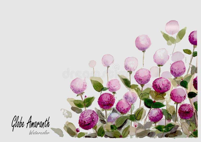 Pintura dibujada mano de la acuarela del globo en el fondo blanco libre illustration