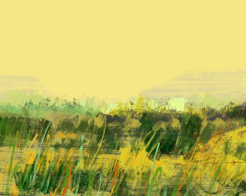 Pintura digital da grama da natureza da paisagem fotos de stock royalty free