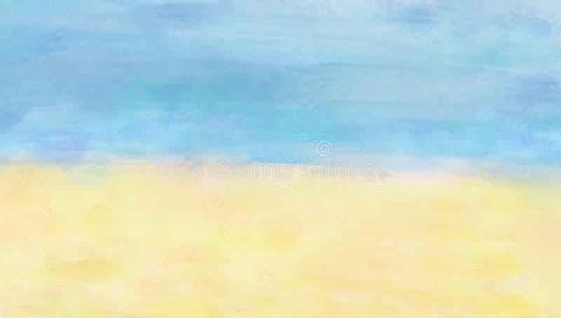 Pintura digital Seascape sobre fondo texturizado fotografía de archivo libre de regalías
