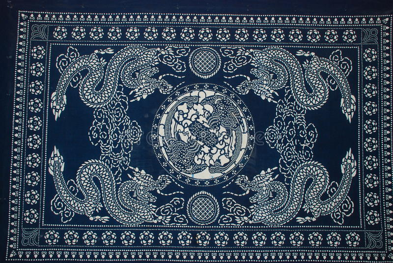 Pintura do Batik foto de stock