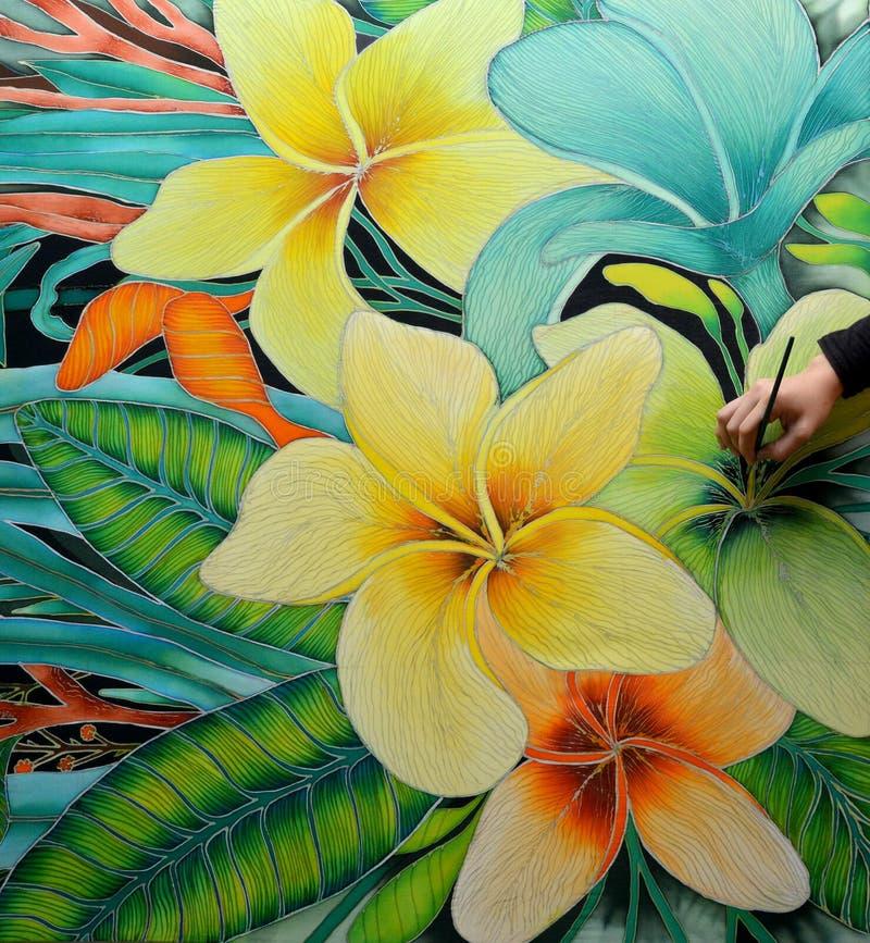 Pintura do Batik fotos de stock
