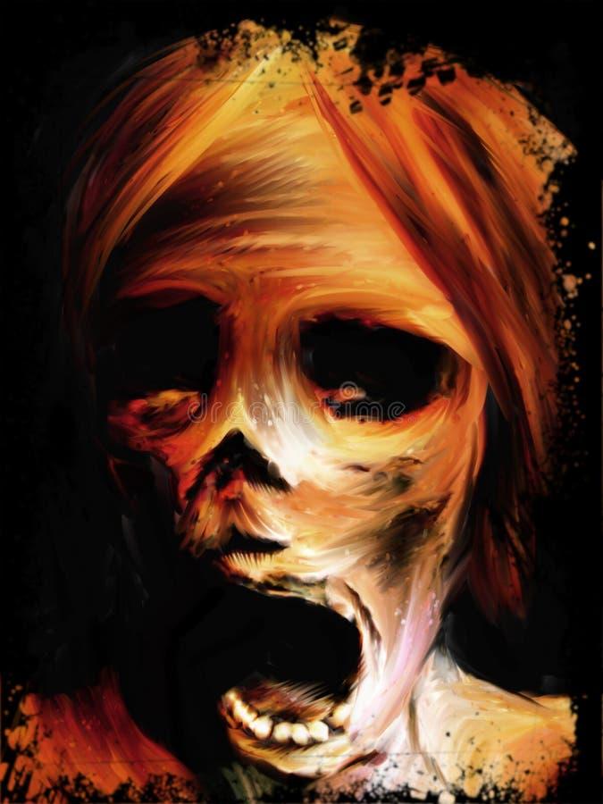 Pintura do cadáver ilustração do vetor