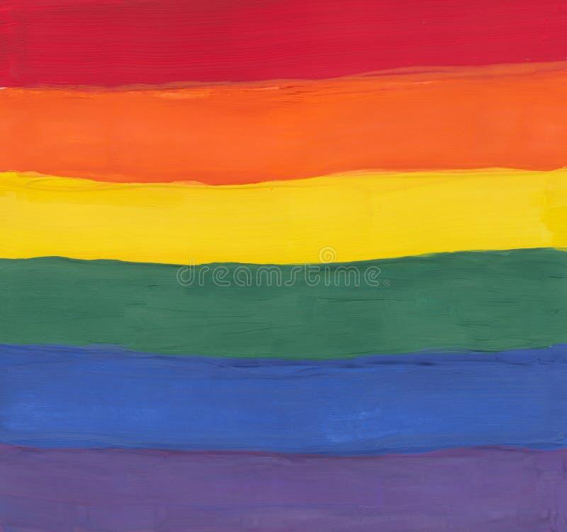 Pintura do espectro do Water-color foto de stock