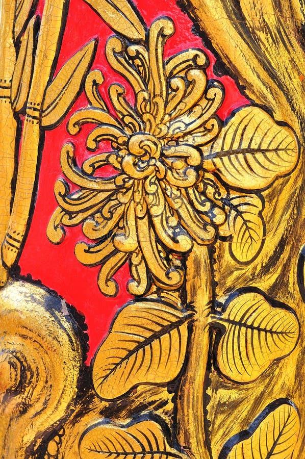 Pintura do estilo chinês da flor imagens de stock royalty free
