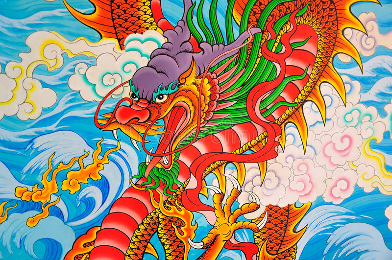 Pintura do estilo de Art Chinese fotografia de stock