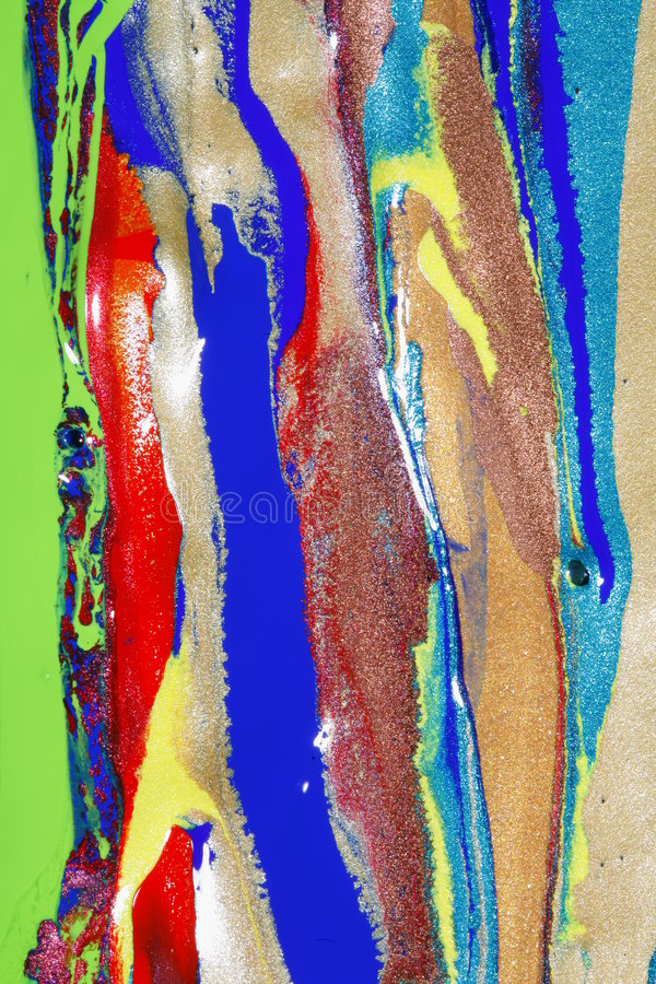 Pintura do Glitter fotografia de stock