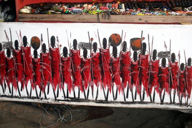 Pintura do Masai foto de stock