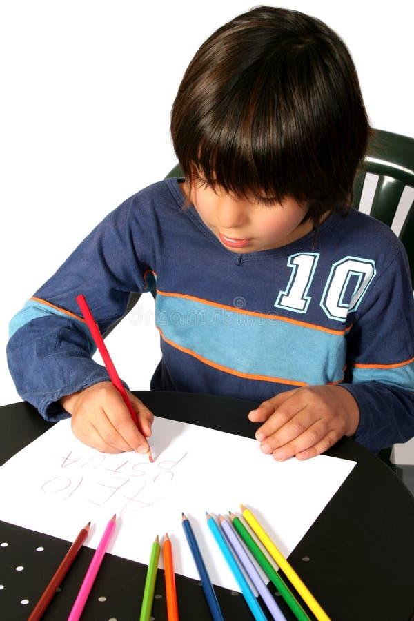 Pintura do menino fotografia de stock