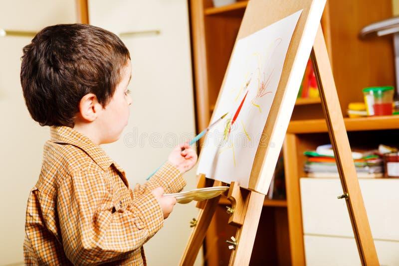 Pintura do miúdo foto de stock