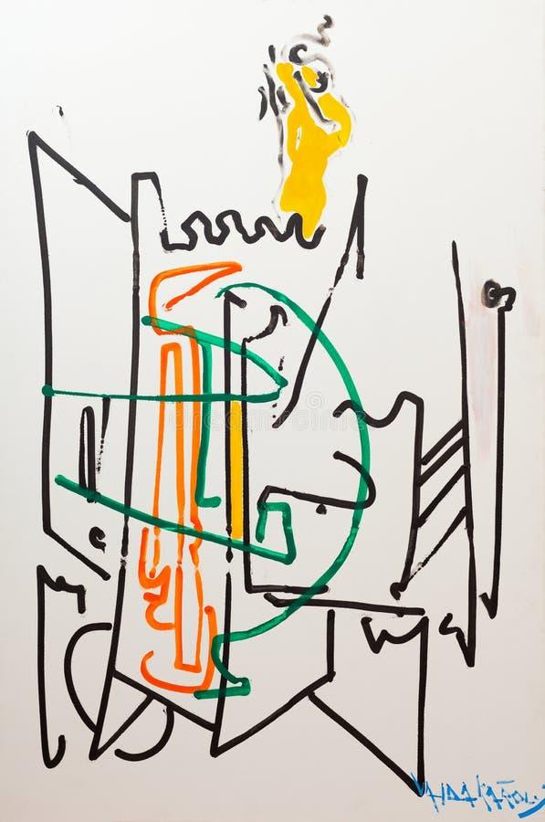 Pintura do papel de parede do fundo imagem de stock