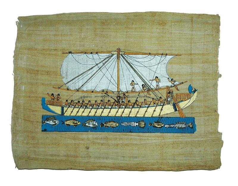 Pintura do papiro imagem de stock royalty free