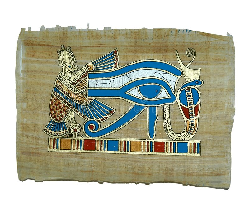 Pintura do papiro fotografia de stock