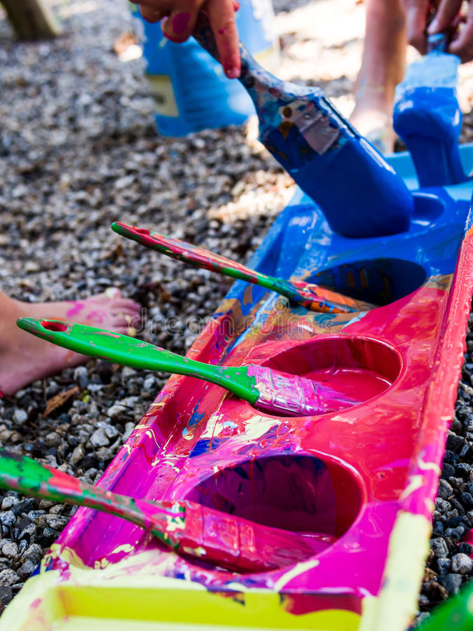 Pintura Dos Miúdos Imagem de Stock