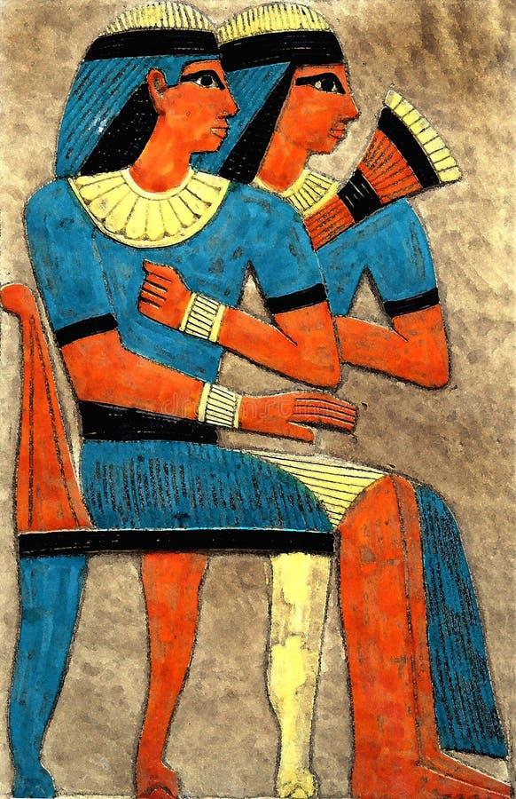 Pintura egípcia imagens de stock