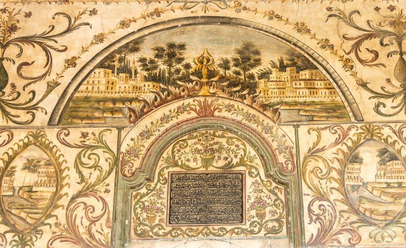 Pintura em Et'hem Bey Mosque imagens de stock