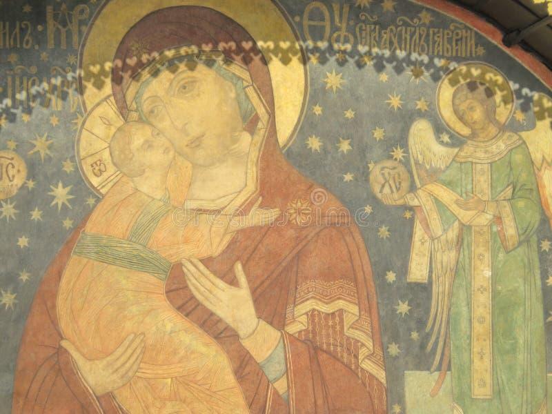 Pintura em Kremlin imagens de stock royalty free