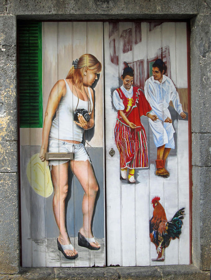 Pintura em portas imagem de stock
