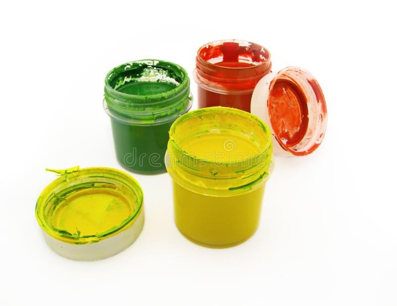 Pintura em uns frascos imagens de stock