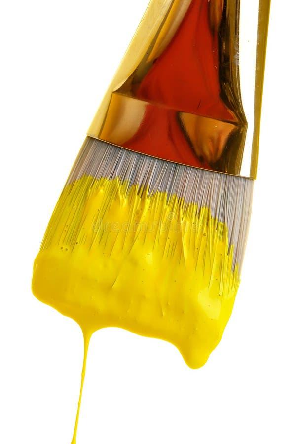 Pintura en amarillo fotografía de archivo