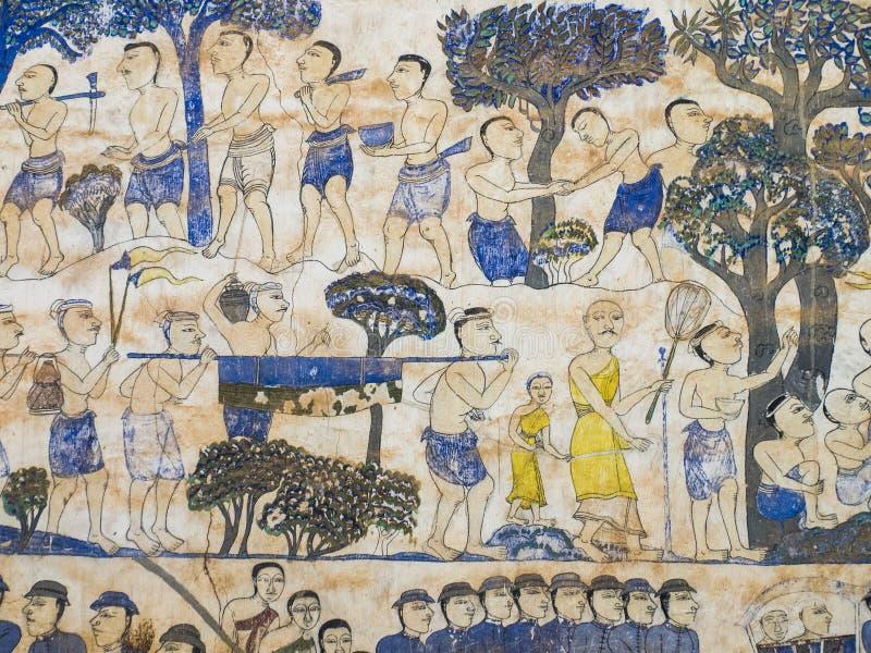 Pintura en la pared de la iglesia en el templo, el abou de la historia fotos de archivo