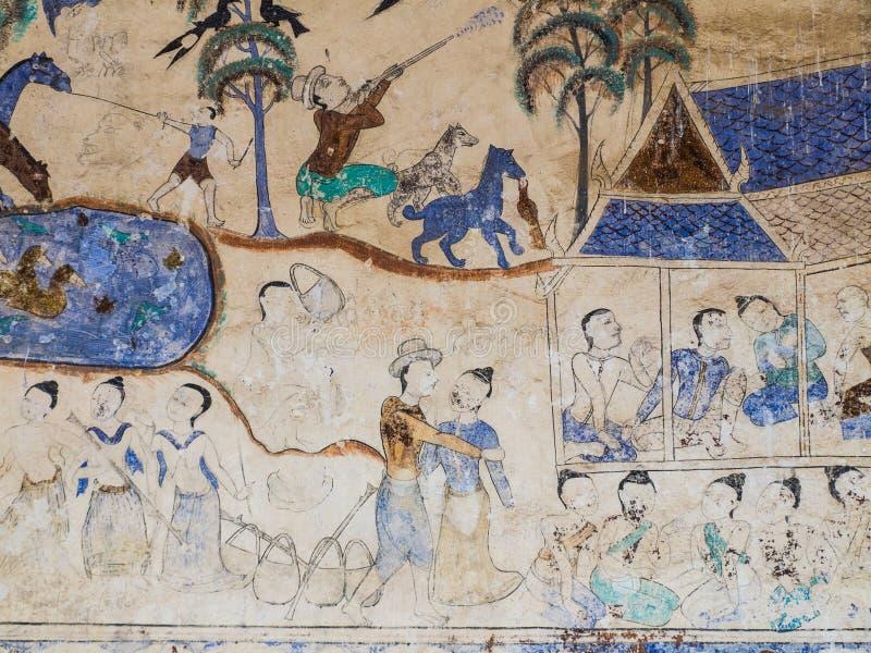 Pintura en la pared de la iglesia en el templo, el abou de la historia foto de archivo libre de regalías