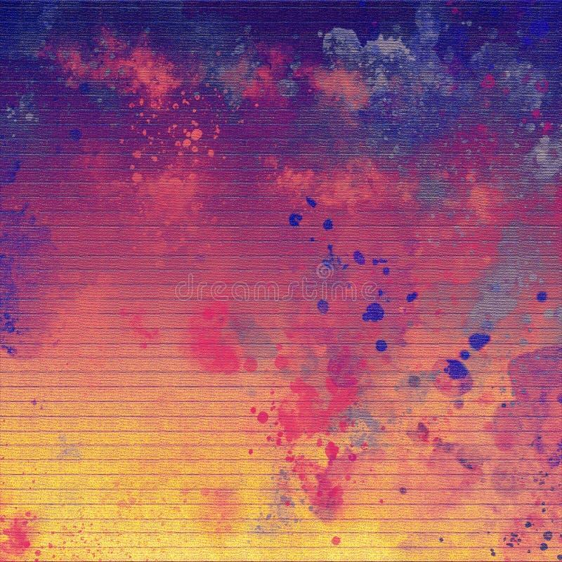 Pintura exhausta del grunge de la mano Fondo abstracto de los movimientos brillantes del cepillo del vintage Bueno para: cartel,  libre illustration