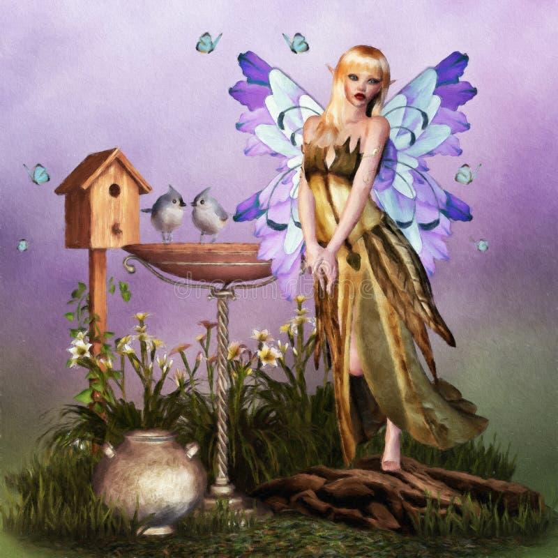 Pintura feericamente de Digitas da fantasia ilustração royalty free